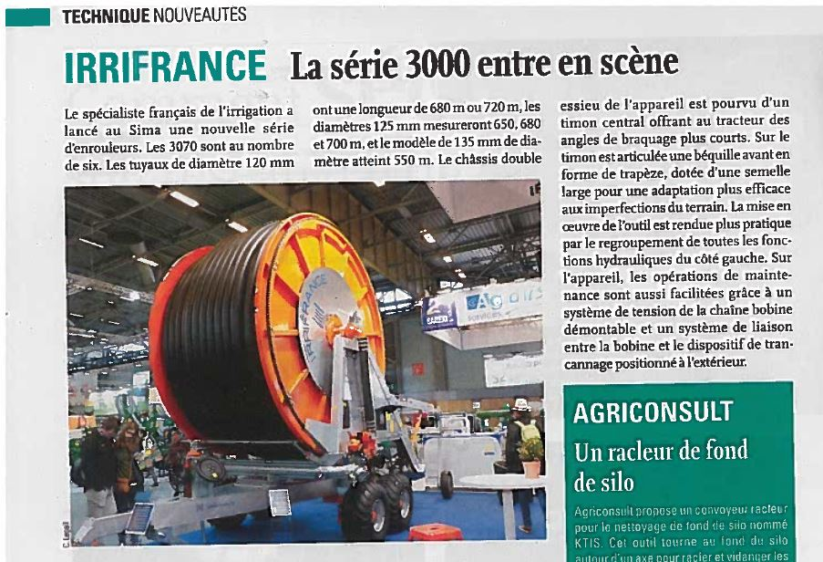 article dans le journal la france agricole